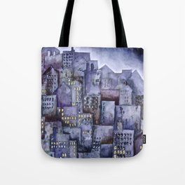 City (from original acrylic painting) Tote Bag