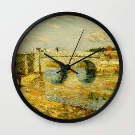 Childe Hassam - Bridge Over the Stour Wall Clock