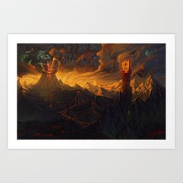 And in the Darkness Bind Them Art Print
