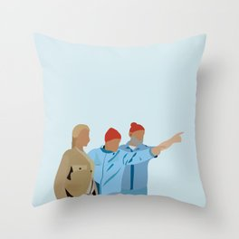 The Life Aquatic with Steve Zissou: Minimalist Poster Throw Pillow