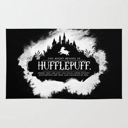 Hufflepuff B&W Rug