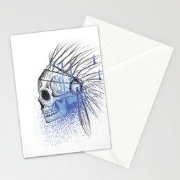 skull sketch Stationery Cards