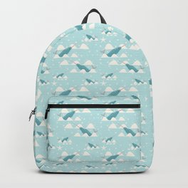 narwhal in ocean Backpack