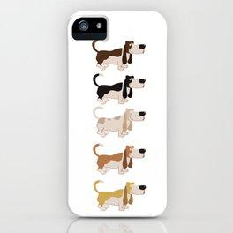 Basset Hound Colors Illustration iPhone Case