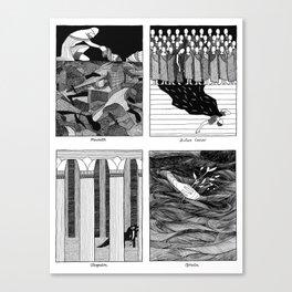 Shakespearean Death Scenes--Set of 4 (#1) Canvas Print