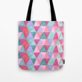 pastel triangle pattern Tote Bag