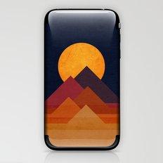 Full moon and pyramid iPhone & iPod Skin