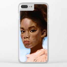 Portrait of a Girl Clear iPhone Case