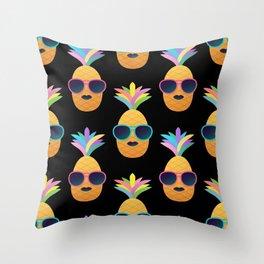 Punk Pinapples Throw Pillow