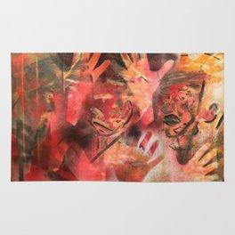 """Acrilic Canvas by Ignacio G. Azaña """"Help"""" Rug"""