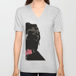 Black Great Dane Dog Unisex V-Neck