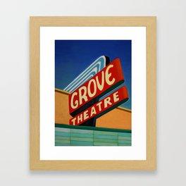 Grove Theater  Framed Art Print