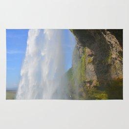 Iceland Waterfall Cascade Landscape Rug