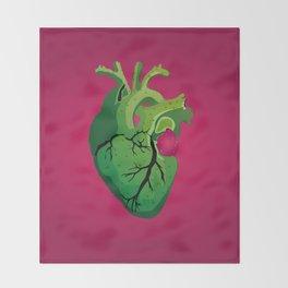 Corazón de Nopal   Cactus Heart Throw Blanket