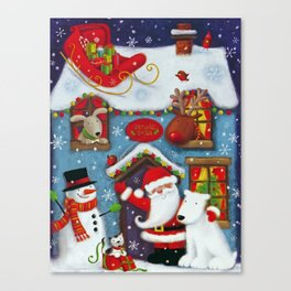 Santa's House Canvas Print