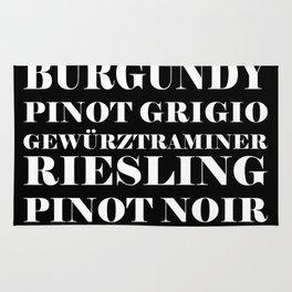 Wine Celebration - black Rug