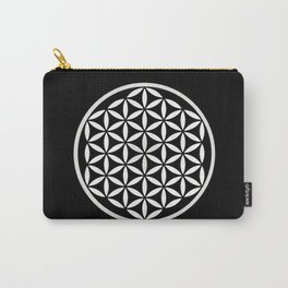Flower of Life Yin Yang Carry-All Pouch