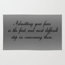 Admitting Your Fears Rug