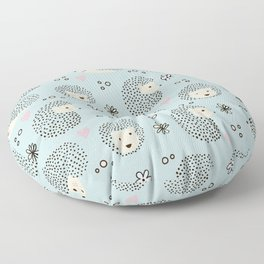 So Many Happy Little Hedgehogs To Hug Pattern Floor Pillow
