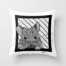 Cute Field Mouse Throw Pillow