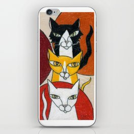 Three Cats iPhone Skin