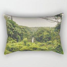 Jungle Waterfall II Rectangular Pillow
