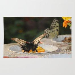Butterfly Feeding Rug