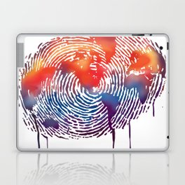 global map finger print Laptop & iPad Skin
