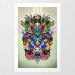 Abstract Gems  Art Print