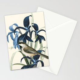 Little Bird and Flowers II Stationery Cards