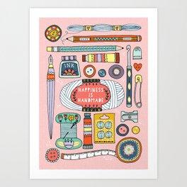 Happiness is Handmade Art Print
