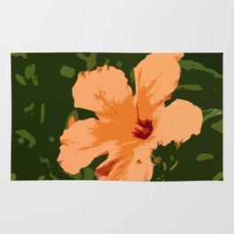 Orange Hibiscus Rug
