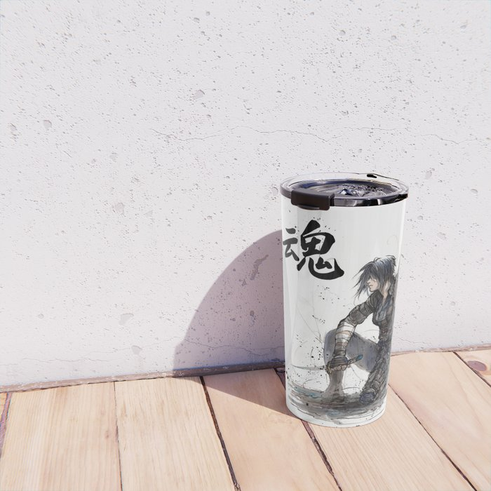 Calligraphy SOUL Ghost in the Shell Motoko Ninja Travel Mug
