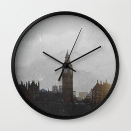 Grungy London Circle Wall Clock
