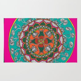 Fish in the lotus pond Rug