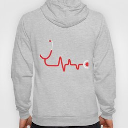 Nurse Gift Heartbeat Registered Nurse RN Gifts National Nurses Day Hoody