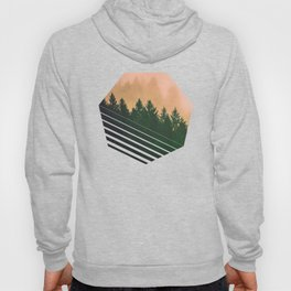 Cascadia Green Trees and Sunset Hoody