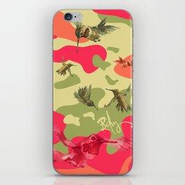 Charming Camo: Hummingbird Camouflage iPhone Skin
