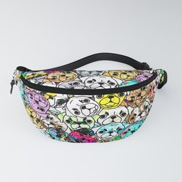 Gemstone Pugs Dogs Fanny Pack