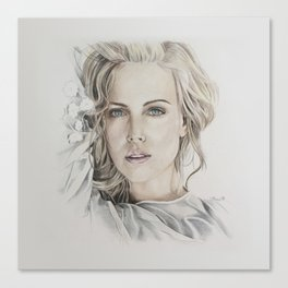 Charlize Theron artwork portrait Canvas Print