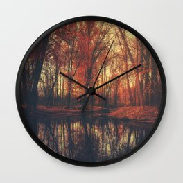 Where are you? Autumn Fall - Autumnal forest Wall Clock