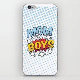 Mom of Boys Mother's Day Comic Book Style iPhone Skin