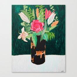 Tiger Vase Canvas Print
