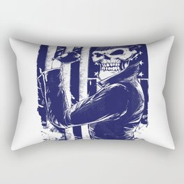 Ghost biker Rectangular Pillow