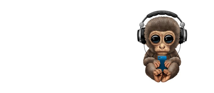 Cute Baby Monkey With Cell Phone Wearing Headphones Blue Coffee Mug