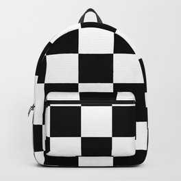 Contemporary Black & White Gingham Pattern Backpack