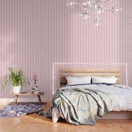 Large Light Millennial Pink Pastel Circus Tent Stripe Wallpaper