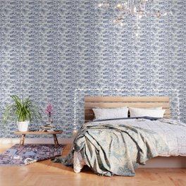 FLOOD IN ANTIQUE CHINESE PORCELAIN Wallpaper
