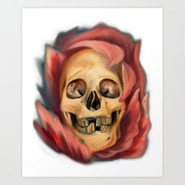Death in Beauty Art Print