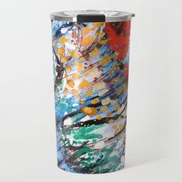 BUTTERFLY - Original abstract painting by HSIN LIN / HSIN LIN ART Travel Mug